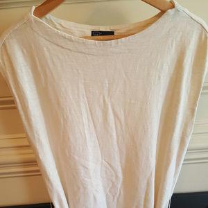 Women's Gap Cotton White dress w/Blue Stripes